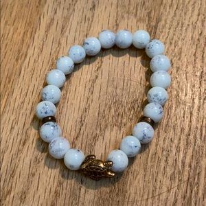 Adorable marble bracelet with turtle charm
